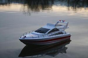 Bateau de vitesse Rc Atlantic Jacht X2 Racing Transmetteur Télécommande Rtr