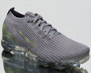 Nike-Air-VaporMax-Flyknit-3-Men-039-s-Grey-Green-Lifestyle-Athletic-Sneakers-Shoes