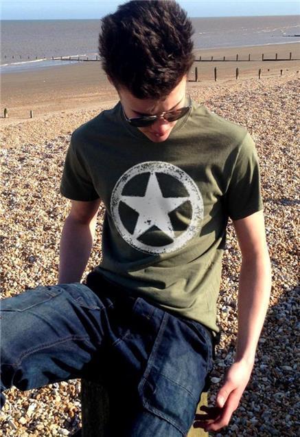 US Army WWII Militar White Star Retro M A S H vintage para hombre Camiseta