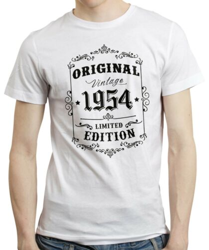 Born in 1954 Retro Style Vintage Limited Edition T-shirt Tee Top 65th Birthday