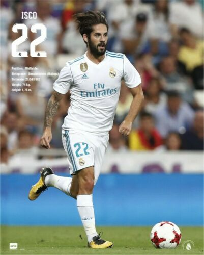 Real Madrid 2017//18 Isco Poster Plakat 50x40cm #120010 Fußball