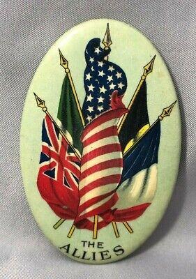 WWI Allies Flag Pinback