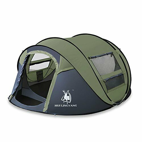 Instant  Pop up Outdoor 4 Person Dome Tent Ideal for Casual Family Camping Green  with cheap price to get top brand