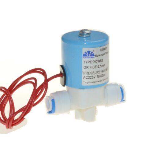 """220v NC 1//4/"""" Conexión del Tubo Pom Plástico Válvula Solenoide Eléctrica De Aceite De Aire Solar"""