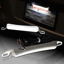 Xenon White 6000K 12-LED Bolt-On Car Truck Chrome License Plate Light DRL Lamp