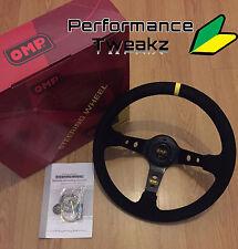 Nuevo Universal Negro OMP 350MM Gamuza Deep Dish Racing Sport volante sparco