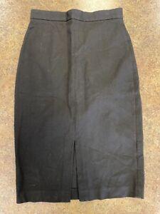Banana Republic women's black below knee business pencil skirt size 8