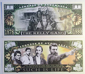 RARE-034-KELLY-GANG-034-Ned-Kelly-1-000-000-Novelty-Note-M-Cave-Buy-5-Get-1-FREE
