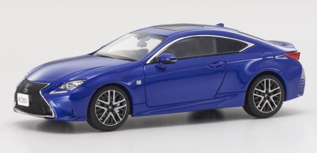 KYOSHO KYOSHO KYOSHO KS03657BL 1 43 Lexus RC350 F Sport Heat bluee CL a58afd