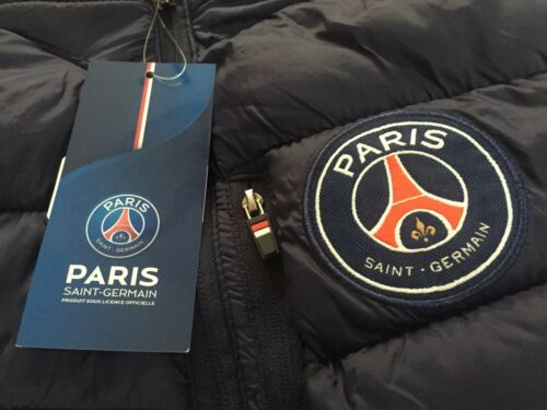 Mens PSG Paris Saint Germain FC Hooded Gilet Jacket Top Neymar Mbappe Edition