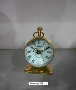 Nautical Smiths London Table Top  Full Brass Clock Home Decor Item
