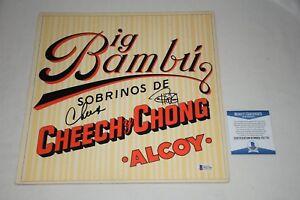 CHEECH MARIN, TOMMY CHONG SIGNED AUTOGRAPHED BIG BAMBU LP ALBUM BAS COA F61778