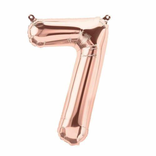 """UK seller 16/""""  ROSE GOLD  Foil number balloons"""