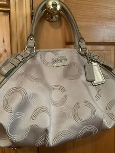 Coach Women's Purse Color Is Off white/Grey Used Only Once