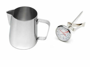 Stainless-Steel-Milk-Coffee-Cappuccino-Latte-Frothing-Jug-600ml-and-Thermometer