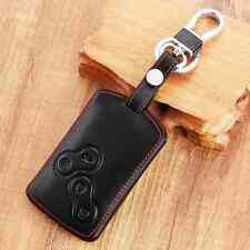 Car Leather Smart Key Protective Cover Case for Renault Clio Scenic Megane