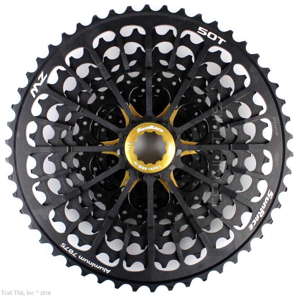SunRace CSMZX0 11-50T 12-Speed MTB Bike Cassette fits SRAM Shimano 10-Speed Hub