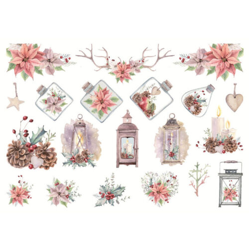 Lovely Painted Paper Stickers DIY Christmas Adhesive Diary Album Scrapbook Decor