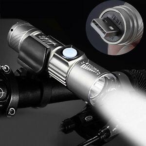 LED Pen Size Q5 USB Rechargeable 500lm Lamp Cree Mini Flashlight Torch