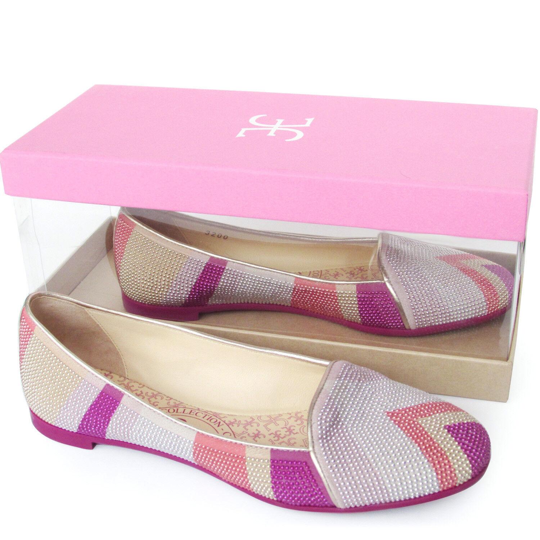 FABI Made in in in  ballerine pelle perline rosadodo designer flat zapatos ballerinas  precios mas bajos