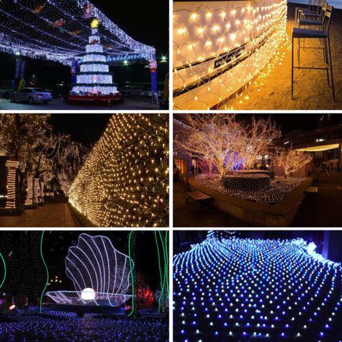 LED String Fairy Light Net Mesh Curtain Xmas Wedding Party Decor Indoor Outdoor