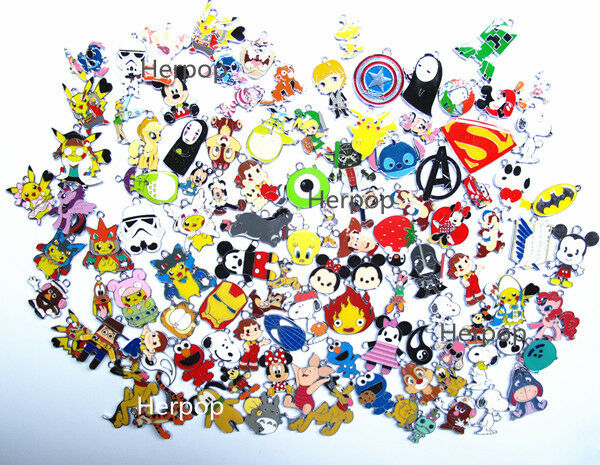 lot 50pcs High quality Cartoon Mixed DIY Metal Charms Jewelry Making pendants