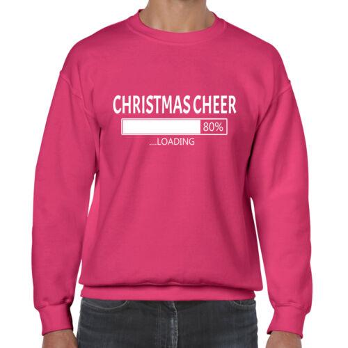 grabmybits xmas Christmas Cheer Now Loading Funny Sweatshirt//Jumper