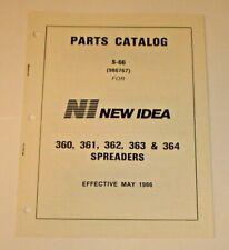 New Idea 360 361 362 363 Amp 364 Manure Spreaders Parts Catalog S 66 Original