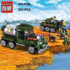 Enlighten 1706 Military Army Truck Car Dog Solider Figure DIY Building Block Toy