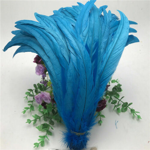 Wholesale 10-1000 pcs rooster tail feathers 12-14 inches//30-35cm 15 colors