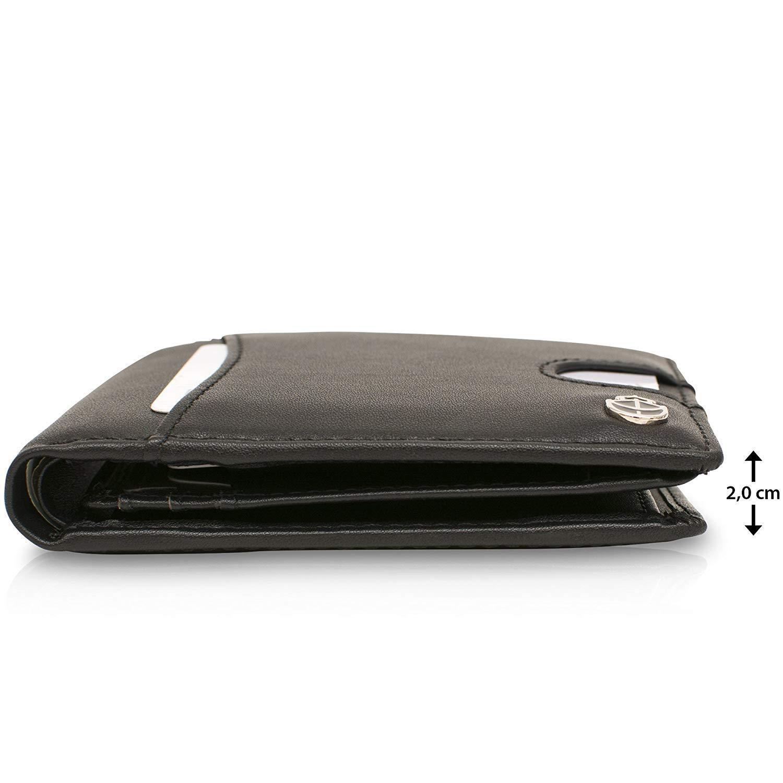 Geldbeutel mit Münzfach - 10 Kartenfächer RFID Schutz - Ideal als Geschenk