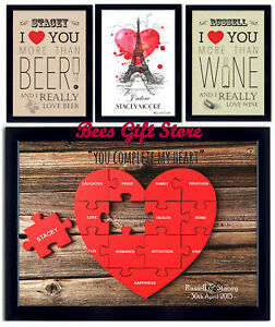 Personalised Romantic Valentines Poster Gift Ideas For Couple