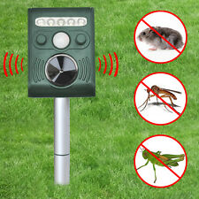 SOLAR Pest Control Ultra Sonic Garden Deterrent Repeller Cat Dog Fox Bird Scarer
