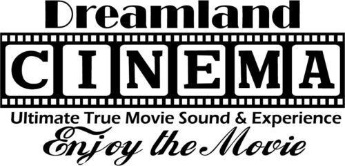 Cinema Theatre personalized sign home movie theater vinyl wall decor mural decal