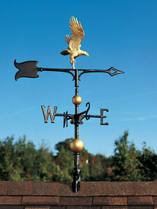 30-034-Flying-Eagle-Weathervane-with-Arrow-MultiColor-Paint-3-D-appearance-amp-depth