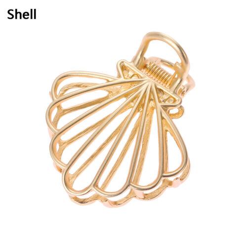 Women Fashion Geometric Hair Claw Hair Crab Clip Bun Maker Hollow Hair Clips