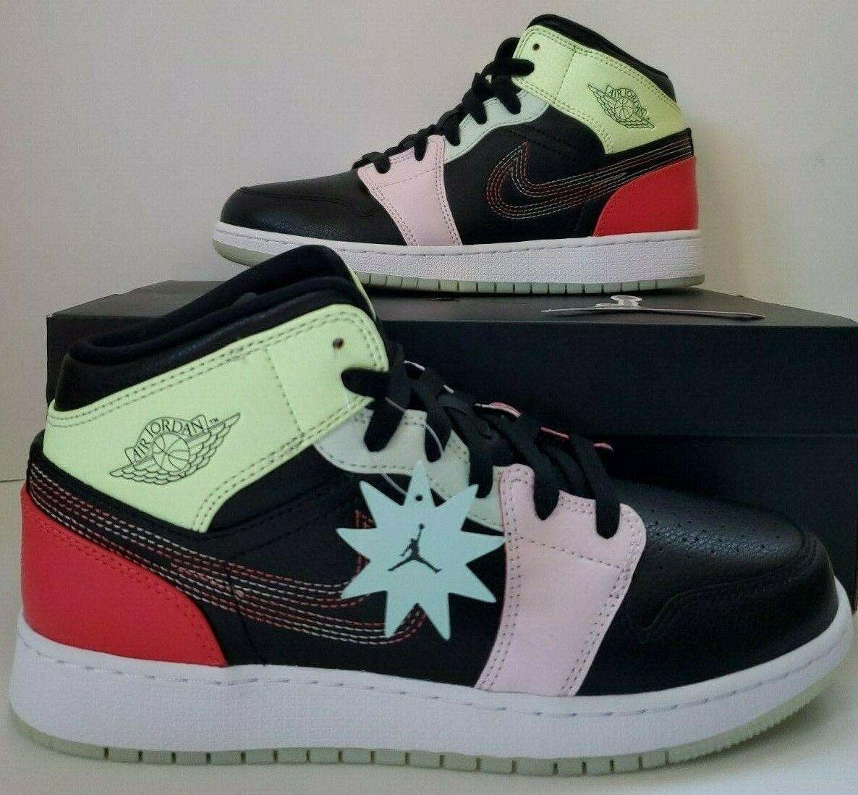 varios estilos venta caliente real diseño innovador Nike Air Jordan 1 Mid SE Glow in The Dark GS Youth Sz 6.5y Av5174 ...