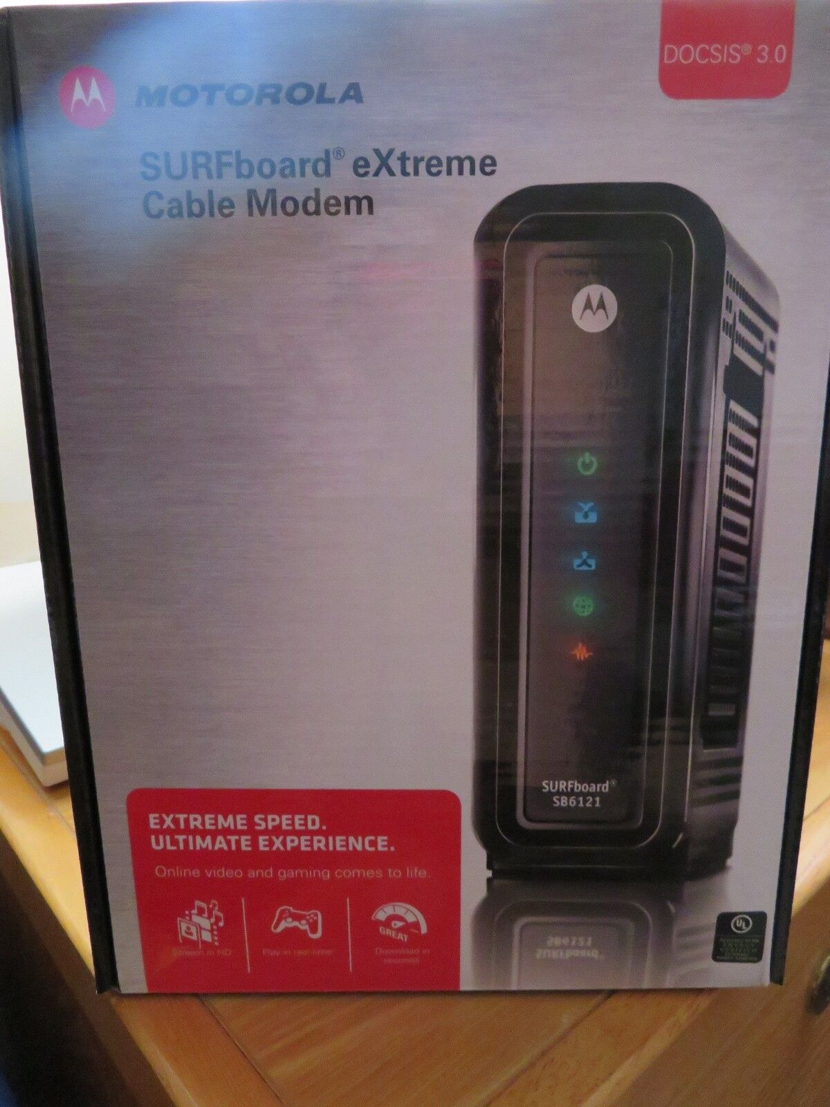 Brown Box Motorola SB6180 DOCSIS 3.0 Cable Modem in Non-Retail Packaging