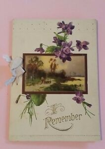 Thomas-Hood-Poem-Booklet-I-Remember-I-Remember-Beckley-Card-Company-Vintage