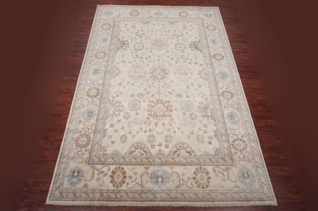 12X17 Turkish Oushak Vegetable Dyed Hand-Knotted Antiqued Area Rug (11.6 x 17.4)