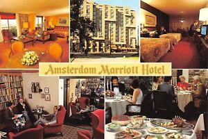 CPSM-POSTACRD-PAYS-BAS-NEDERLAND-NETHERLANDS-Amsterdam-Mariott-hotel-multivues