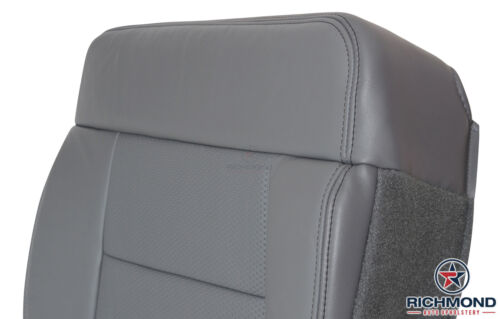 2004 2005 Ford F150 FX4 Driver Side Bottom Replacement Leather Seat Cover Gray