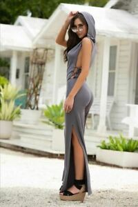 Grey-Side-Lace-Up-w-Hoodie-Jumpsuit