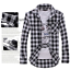 Men-039-s-Classic-Casual-Plaid-Shirt-Fashion-Long-Sleeve-Button-up-Cotton-Shirt-Top thumbnail 3