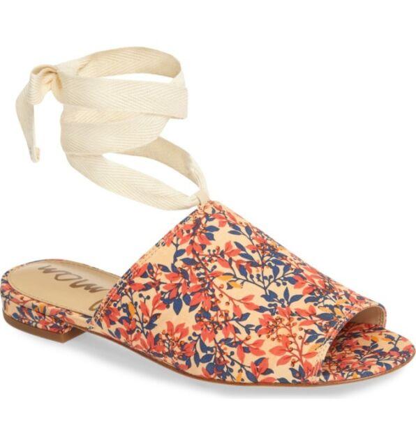 f77b7b287e62 Sam Edelman Tai Sandals Women s Canvas Multi-Color Size US 8 M