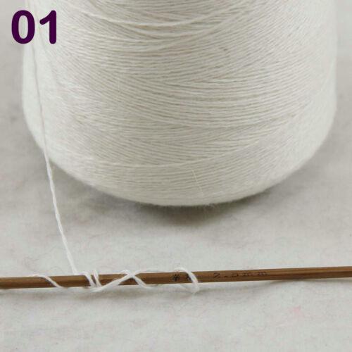 Sale NEW Luxurious100g Mongolian Pure Cashmere Hand Knitting Cone Yarn 01 White