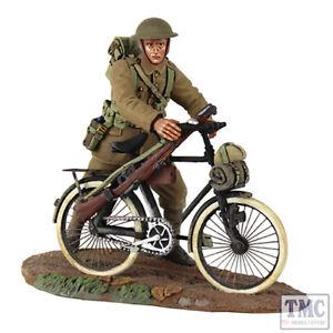 B23085 W.britain 1916-17 Infanterie britannique poussant un vélo _1