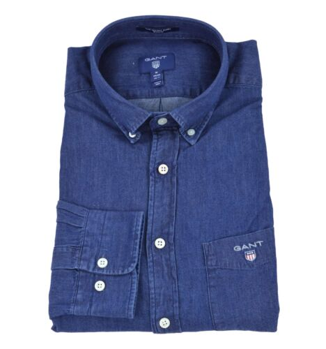 GANT uomo camicia button down blu regular 3040520 989 DARK INDIGO