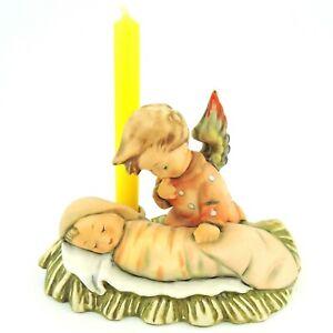 """Vintage Goebel Hummel Angelic Sleep 25 TMK-6 3.75"""" Tall Angel Candle Holder"""