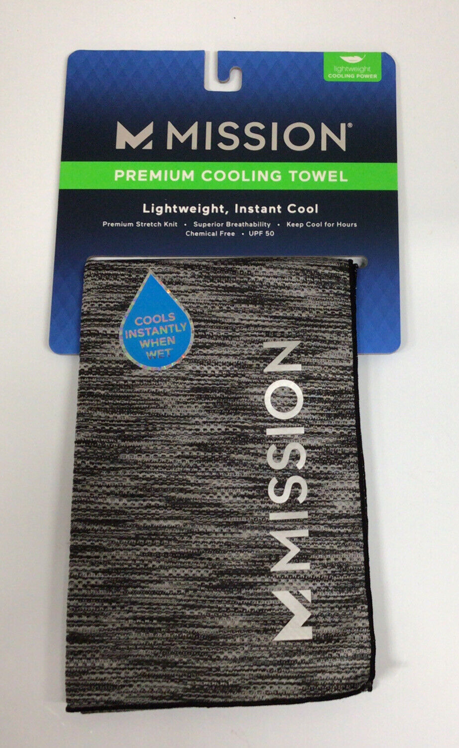 Mission Endura Cool Blue Instant Cooling Towel EnduraCool 13-Inch X 37-Inch for sale online